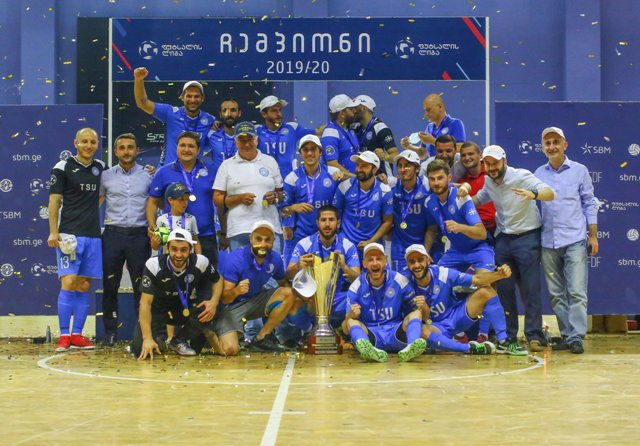 TSU Team Wins Gold Medal in Georgian Futsal League